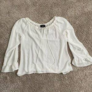 Vici White Blouse Bell Sleeves
